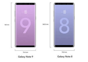 marime samsung galaxy note 8 vs note 9