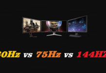 Monitor gaming 60Hz vs 75Hz vs 144Hz