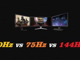 Monitor gaming 60Hz vs 75Hz vs 144Hz